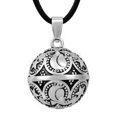 details about eudora harmony ball pendant bali antique silver sounds pregnancy long necklace