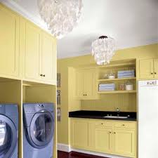 painted laundry room laundry room chandelier 100 diy upgrades for under 100 this