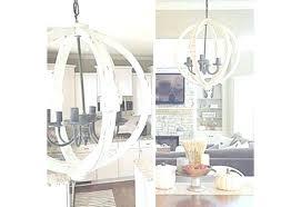 distressed white chandelier wood orb designs