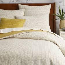 West Elm - Mid-Century Organic Crosshatch Jacquard Quilt Cover + ... & West Elm - Mid-Century Organic Crosshatch Jacquard Quilt Cover + Pillow  Shams Adamdwight.com