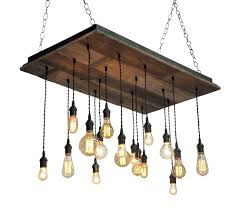 reclaimed wood chandelier rustic wine barrel edison bulb reclaimed wood chandelier