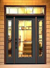 front door glass replacement cost