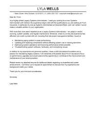 Best Legacy Systems Administrator Cover Letter Examples Livecareer