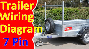 7 pin trailer wiring diagram harness youtube 7 way trailer plug diagram at 7 Plug Wiring Diagram