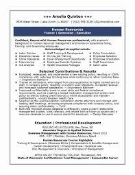 Human Resources Resumes Elegant Human Resource Generalist Resume