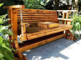 outdoor glider bench swing