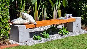 concrete garden bench. How To Make A Concrete And Timber Bench Garden