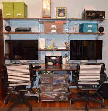 Home office desk systems Wall Elfahomeoffice Friendsgiving Build An Organized Home Office Without Permanently Modifying The