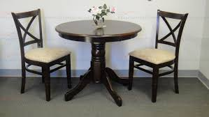 autumn imports 3 piece 36 round solid wood x back bistro set in cappaccino