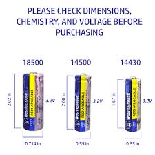 3 2 V Solar Light Batteries Westinghouse Battery Ifr 14430 3 2v 400 Mah Lithium Iron