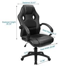 metal office chairs. Delighful Metal Amazoncom Furmax Office Chair Leather Desk Gaming Chair High Back  Ergonomic Adjustable Racing ChairTask Swivel Executive Computer Headrest And  Throughout Metal Chairs