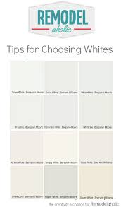 Benjamin Moore Off Whites Remodelaholic Tricks For Choosing The Perfect White Paint Color