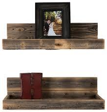 rustic wall shelves delhutson designs hartland shelves set of 2 reviews houzz