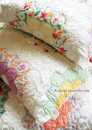 Quilt Pillows. Good way to recycle and old quilt that's all torn ... & Quilt Pillows. Good way to recycle and old quilt that's all torn and  tattered around Adamdwight.com