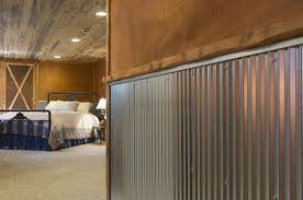 corrugated metal for interior walls