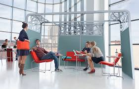 collaborative office space. Collaborative Office Furniture Is Becoming More Popular As Employees Choose To Physically Move In Their Space