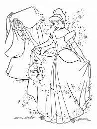 Princess Cinderella Coloring Page For Kids Disney Printable