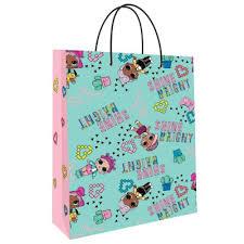 LOL. <b>Пакет подарочный</b> большой (мятный с розовым), 220*310 ...