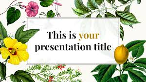 Powerpoint Frame Theme Lotus Flowert Template Free Spring Templates Background