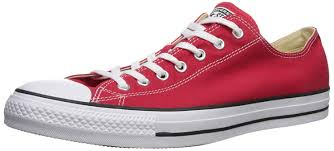 Red Designer Shoes Converse All Star Ox Shoes Red