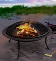 portable fire pit to go with carrying bag outdoor fireplace