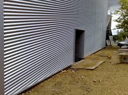 image of corrugated steel siding installation