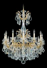 schonbek 5011 23s la scala 12 light crystal chandelier in etruscan gold with clear crystal from swarovski