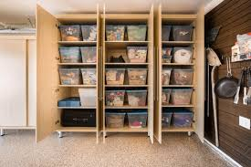 wooden garage rack wood made drawers build ideas system storage hanging self with basement boxes doors