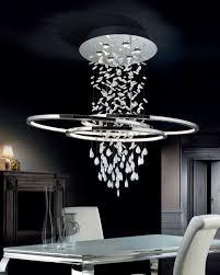 Long Drop Stairwell Pendant Lights Asymmetric Oval Long Drop Led Light Modern Chandelier