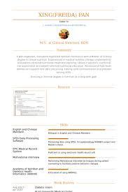 Dietetic Intern Resume samples