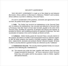 loan and security agreement template. 10 Sample Free Security Agreement Templates Sample Templates