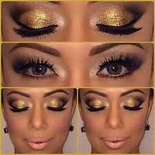 applying gold to dark skin