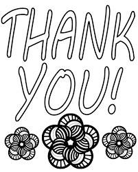 Thank You Card Coloring Page 4 Betweenpietyanddesirecom