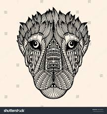 Zentangle Tiger Hand Drawn Doodle Vector Stock Vector Royalty Free