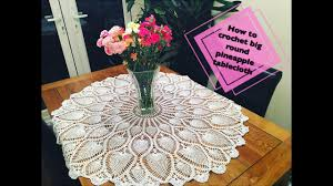 how to crochet big round pineapple tablecloth part 1 of 4