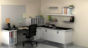white wood office desk. White Office Furniture Ideas Using L Shape Painted Oak Wood Desk Also Wall B