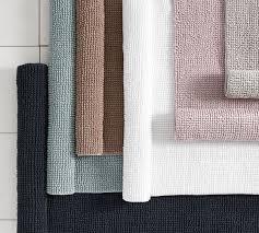 textured organic bath mat