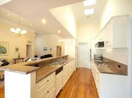 modern galley kitchen design. Modern Galley Kitchen Design Using Floorboards Ideas