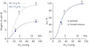 O2 Saturation Chart Relating Oxygen Partial Pressure Saturation And Content