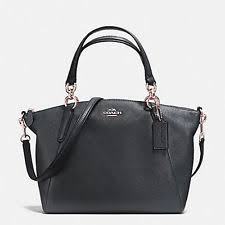 Coach Pebble Leather Small Kelsey Satchel Bag - F36675 Black
