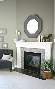 how to decorate a fireplace mantel with a mirror