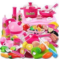 Amazon Com Piece Kitchen Cooking Set Girls Boys Fruit