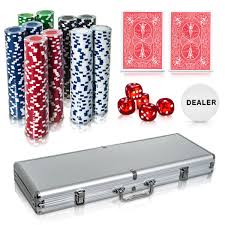 Great quality and pricing, no setup free virtual proof, ships in 3 days Poker Set 500 Pcs Laser Chips Texas Hold Em Cards Dice Decks Casino Game New Poker Playing Cards