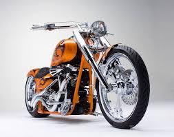 custom orange chopper motorbike totally rad choppers