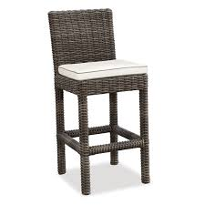 Outsunny 7 Piece Outdoor Rattan Wicker Bar Pub Table U0026 Chairs Outdoor Wicker Bar Furniture