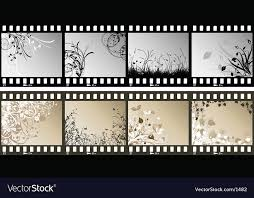 Film Strips Pictures Floral Film Strips Royalty Free Vector Image Vectorstock