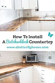 all the details of how i secured my menards butcherblock countertops to my ikea cabinets during