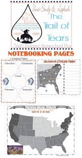 trail of tears notebooking pages worksheets printables   trail of tears notebooking pages