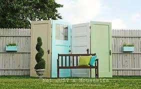 old doors diy outdoor privacy screen