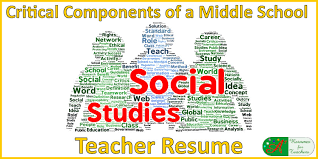 ... critical components of a middle school social studies teacher resume